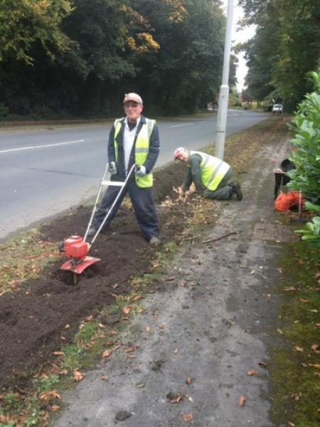 Bulb Planting on The Avenue -